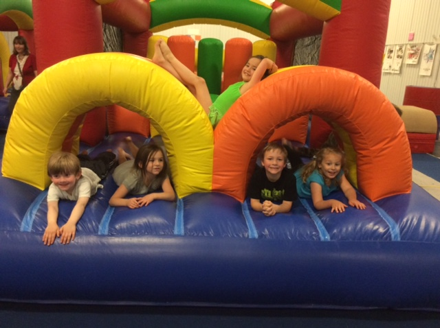Route 38 facility with a birthday party and open house on Friday, May 15. Those who came to help the Center celebrate played in the foam block pit, ran through the inflatable obstacle course and got to play on the equipment.  The Center is now gearing up for its summer programs including Summer Fun Weeks and Munchkin Weeks. Recreational gymnastics programs will continue through the summer. The Center's summer schedule can be found on the website OwegoGymnastics.com.  Owego Gymnastics and Activity Center is a not-for-profit organization established in 1964. For more information on any of the programs offered at the Center, call the office at (607) 687-2458 or send an email to Owegogymnastics@gmail.com.
