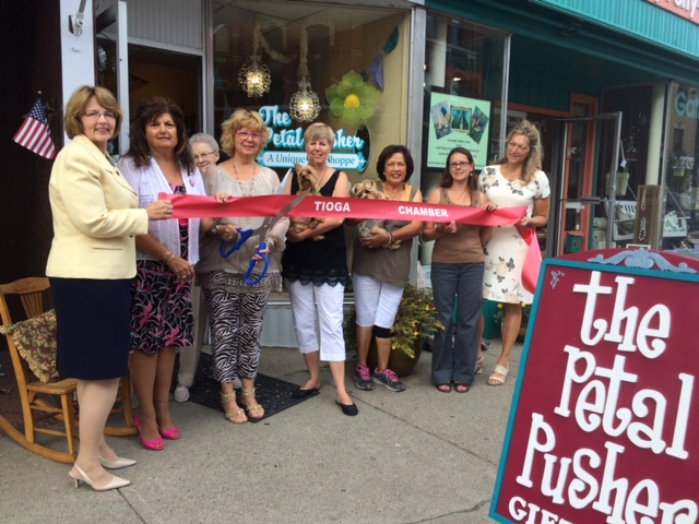 Tioga Chamber welcomes The Petal Pusher in Owego