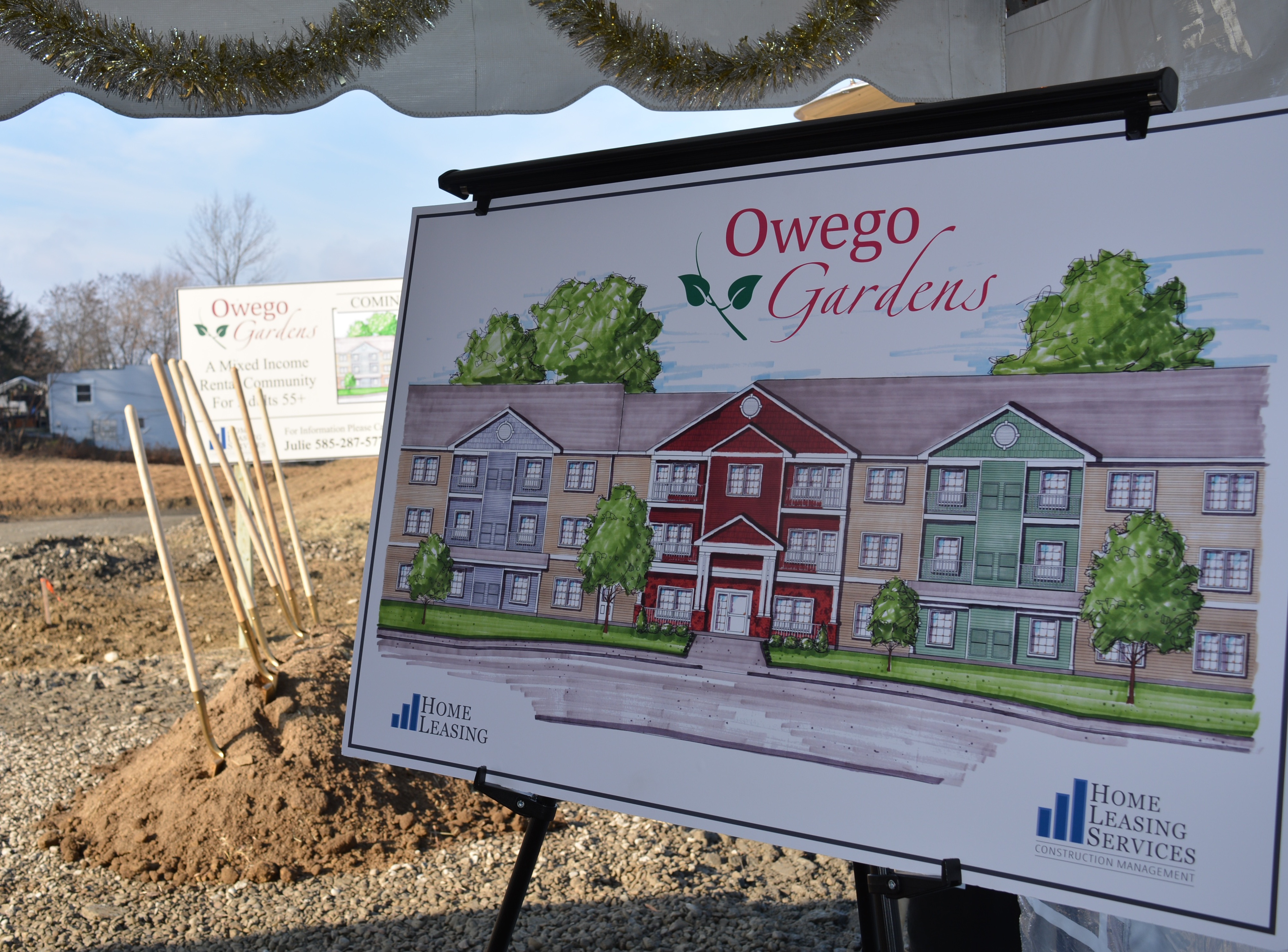 Storm recovery continues with groundbreaking for Owego Gardens