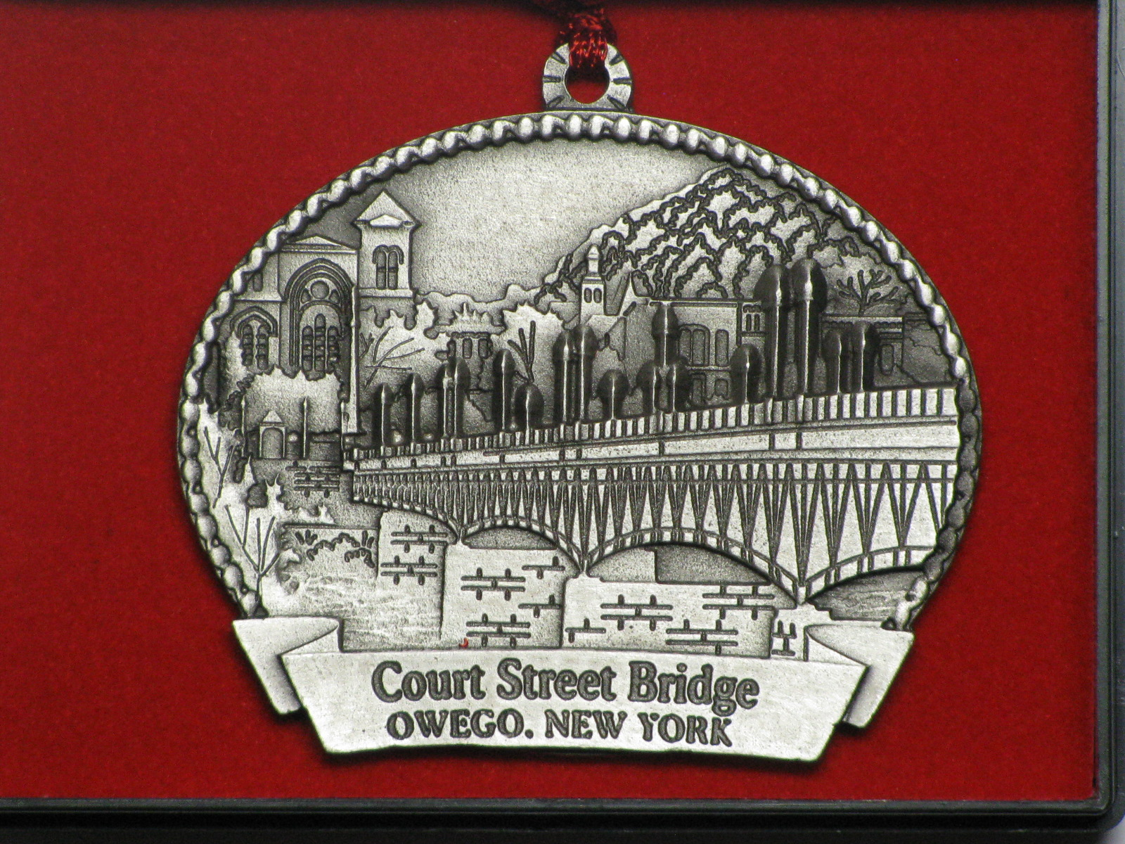 Court Street Bridge is featured on this year's Kiwanis Ornament