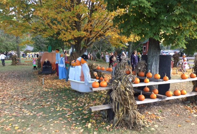 Iron Kettle in Candor, N.Y. pumpkin display.