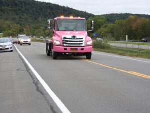 Traci's Hope Ride has good turnout; pink tow truck tells a story