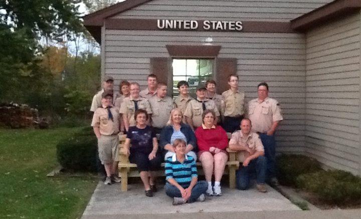 Scout Troop replaces broken bench in Nichols