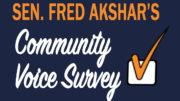 Senator Akshar releases 2017 Community Voice Survey