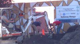 Construction progress on the Gateway Building in Owego