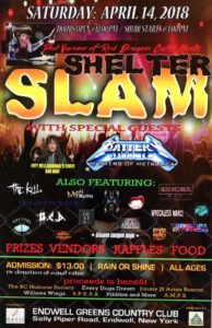 Shelter Slam taking place at Endwell Greens on April 14