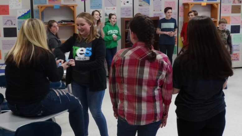 YES LEADers visit the Owego Middle School to talk about managing stress and making safe choices