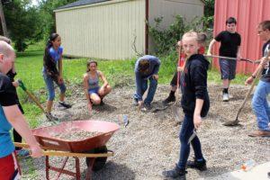 Middle School students revive school garden