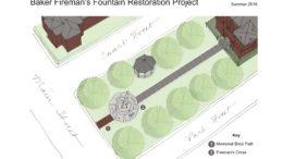 Baker Fireman's Fountain Restoration schedule set
