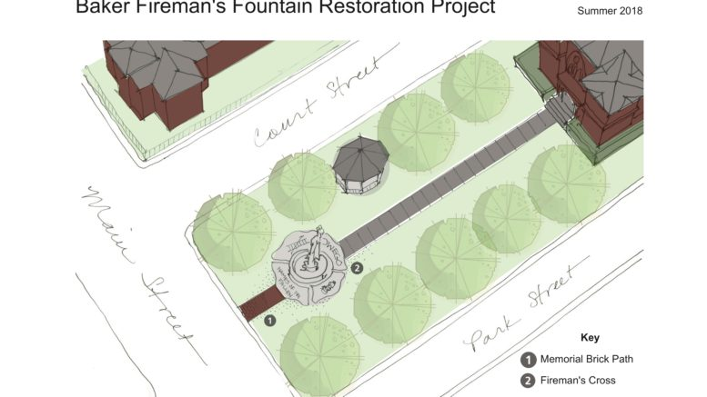 Baker Fireman's Fountain Restoration schedule set