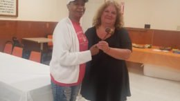 Gavel turned over at recent American Legion Auxiliary Meeting in Nichols