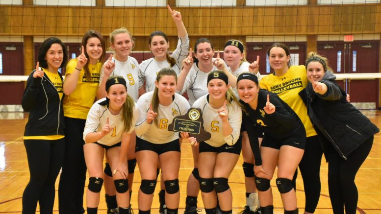 SUNY Broome Volleyball is the Mid State Athletic Conference Champion