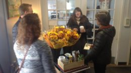 Bassett Foundation volunteers deliver fresh flowers to Riverview residents