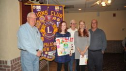 Apalachin Lions honor the 2018 Peace Poster contest winner