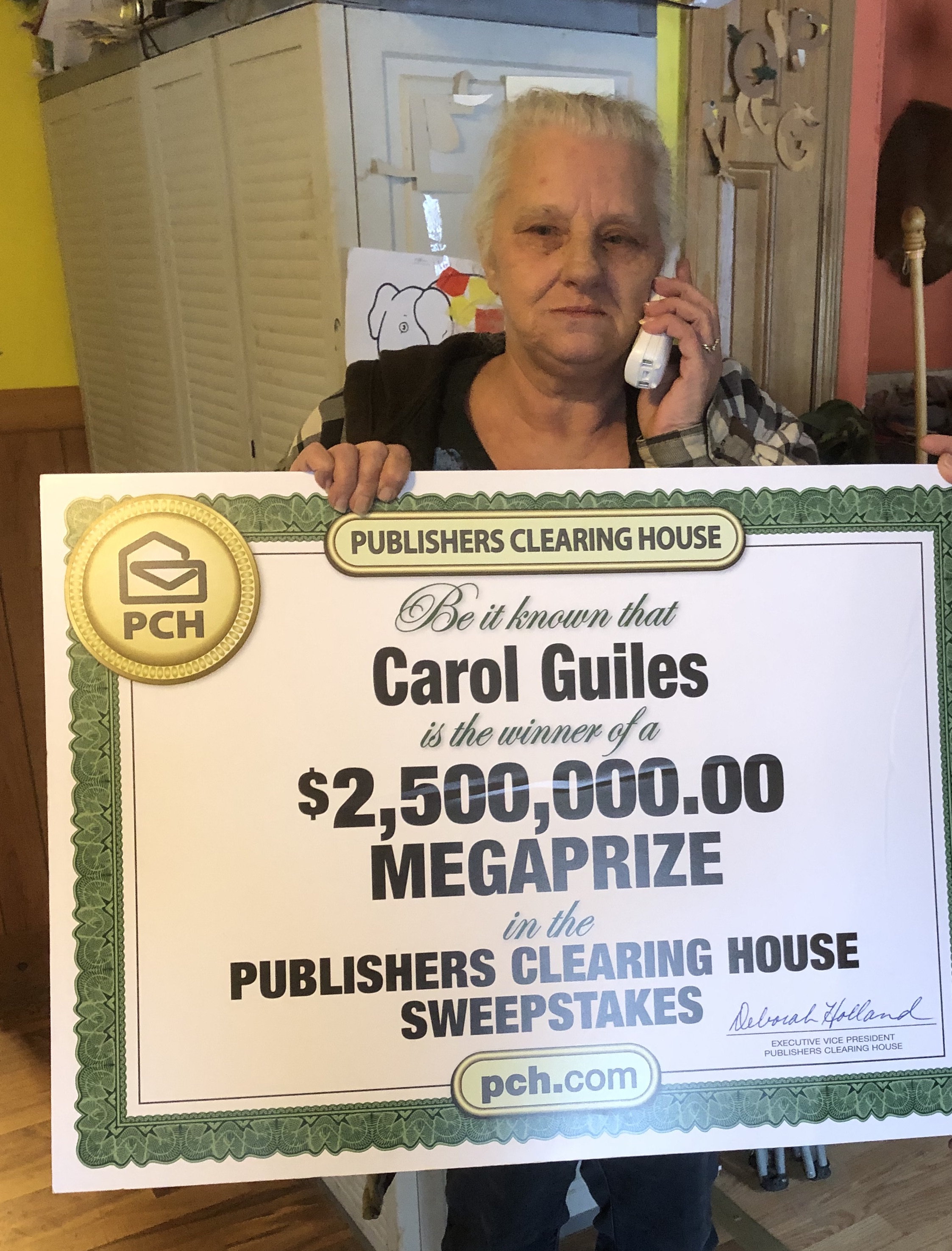 Image result for Publishers Clearing House Check WINNER going