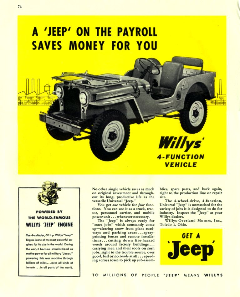 Collector Car Corner - History of Jeep, strong sales trends and a new Gladiator Pickup