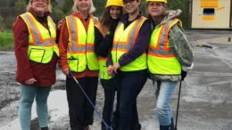 Candor Auxiliary performs roadside clean up
