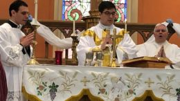 Father Daniel White celebrates his First Mass