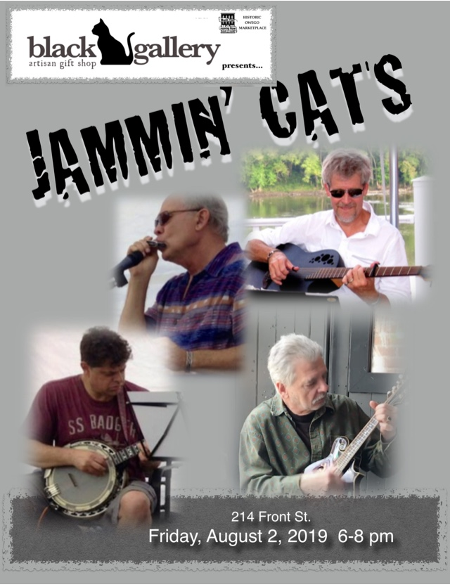 'Jammin Cats' and more at the Black Cat Gallery