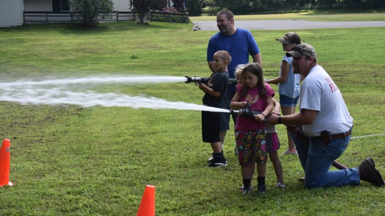 Guests cool off at recent fire department event