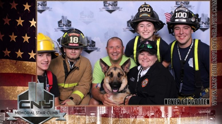 Local first responders pay tribute at CNY Memorial Stair Climb