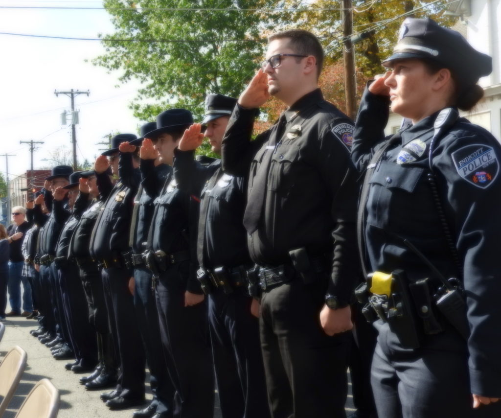 Memorial dedication honors Owego's fallen officers