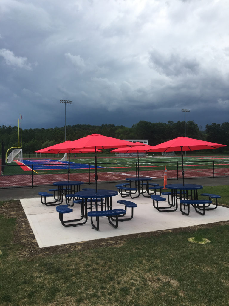 OFA Stadium picnic seating area donated in honor of OFA graduate and district employee