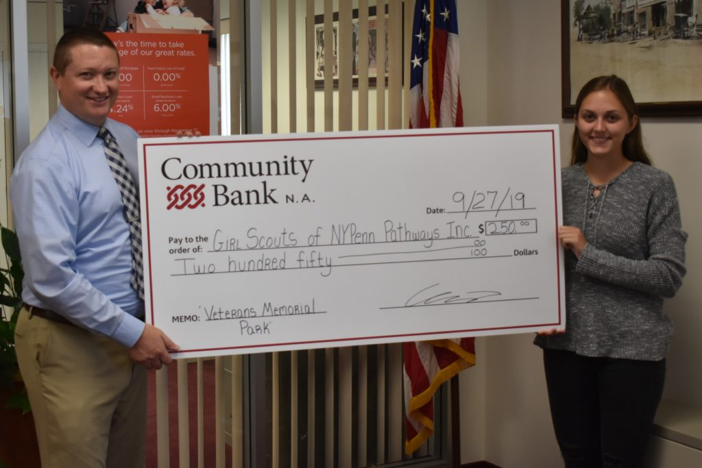 Community Bank contributes to Memorial Project