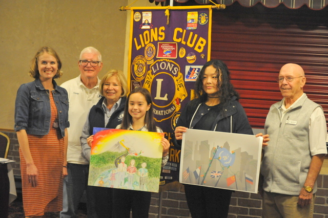 Apalachin Lions honor the 2019 Peace Poster contest winners