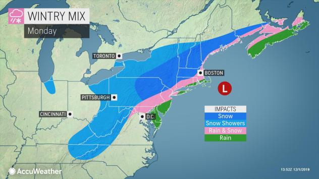 Northeastern US braces for foot of snow during first days of December