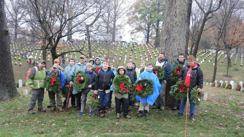 Troop 30 participates in Arlington's 'Wreaths Across America' ceremony