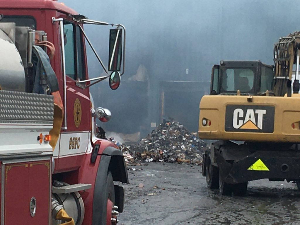 Fire rips through recycling plant in Apalachin