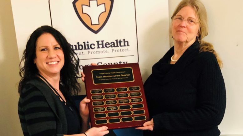 Tioga County Public Health Team Member of the Half