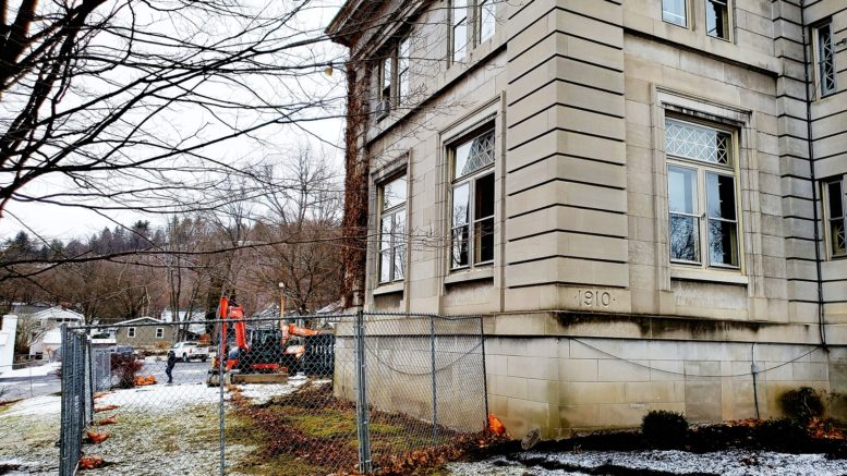 Construction begins at the Coburn Free Library