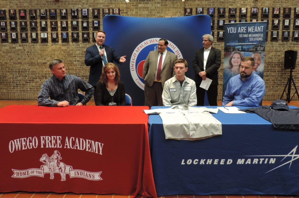 OFA Senior signs with Lockheed Martin