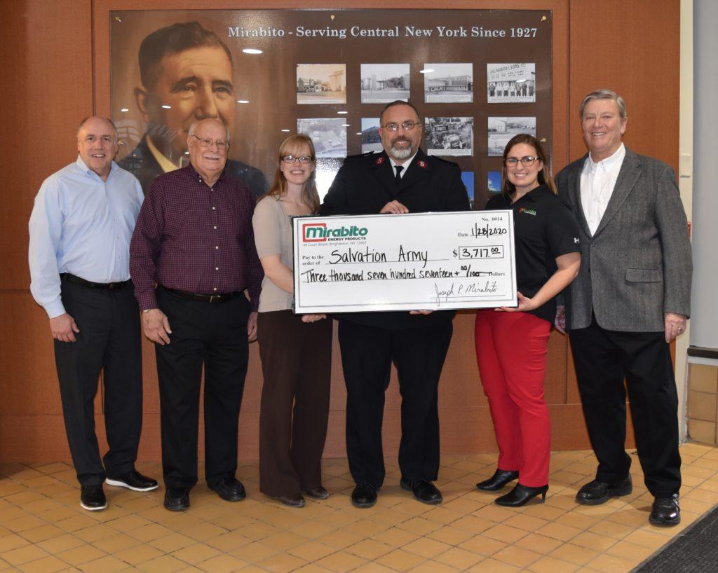 Mirabito Energy donates to the Salvation Army