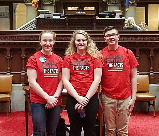Reality Check Youth meet with State Lawmakers at the Capitol