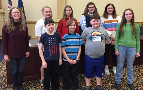 Youth demonstrate public speaking skills at Tioga County 4-H Public presentations event