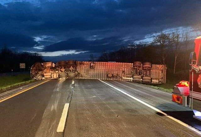 Route 17 Eastbound shut down in Owego