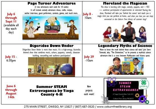 Summer Reading goes virtual at the Coburn Free Library