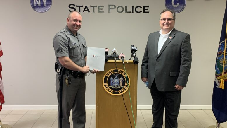 Red Cross honors State Trooper for rescuing residents from house fire