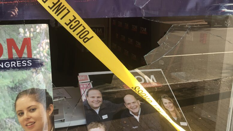 Congressman Tom Reed reacts to violence at Corning campaign office