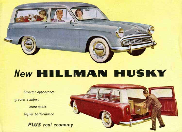Collector Car Corner - Reader recalls father's Hillman Husky: British motorcars from Rootes include Sunbeam Alpine