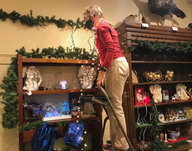 O Tannenbaum Holiday Display taking shape