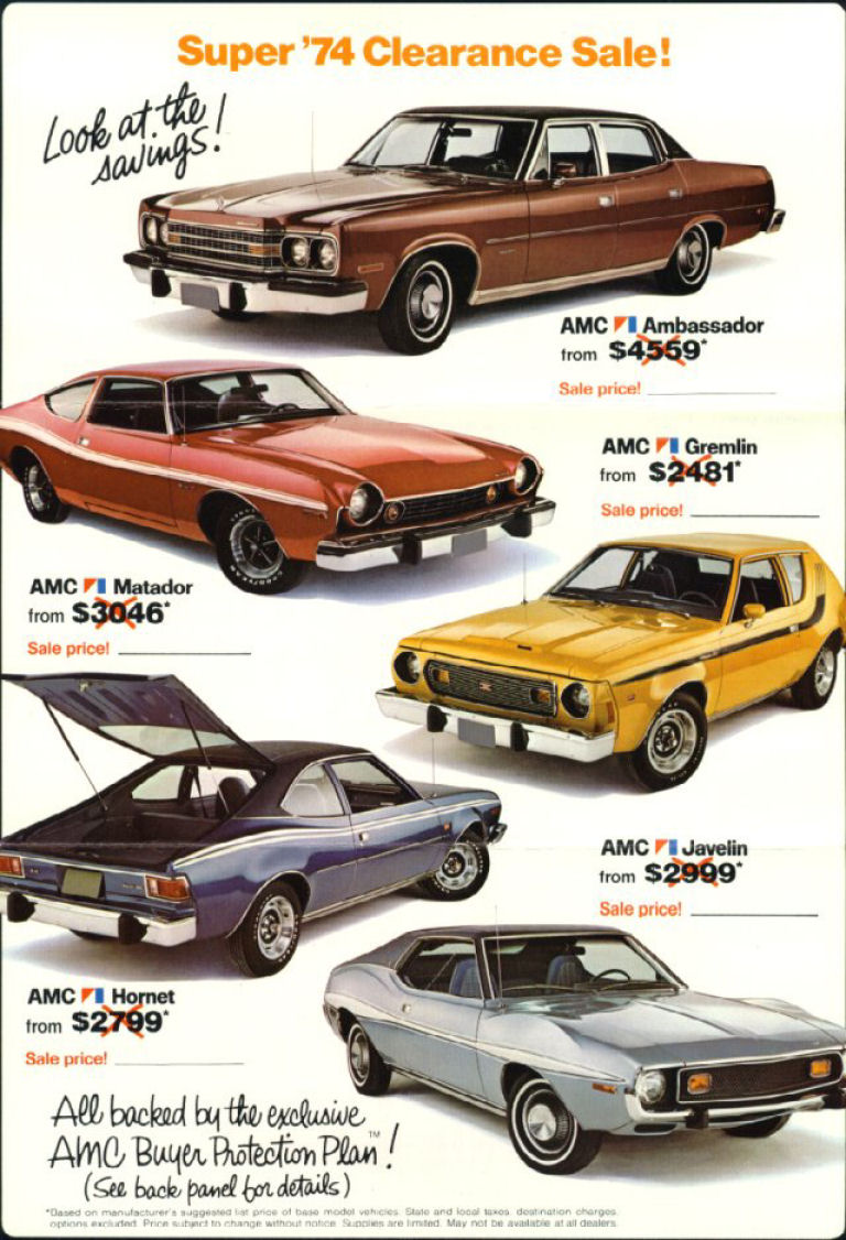 Collector Car Corner - American Motors memories; AMC Ambassador, Pacer and Javelin/AMX