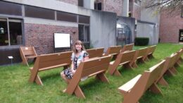 Memorial benches unveiled for scout's gold award