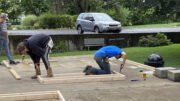 OFA students construct storage shed at Roberson Museum